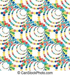 cercles, coloré, modèle, seamless, illustration, clair, vecteur, fond, blanc