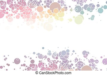 cercles, coloré, résumé