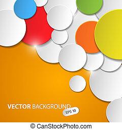 cercles, coloré, résumé, fond, vecteur