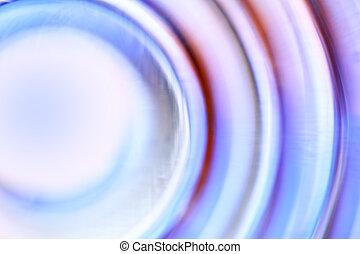 cercles, concentrique, defocused