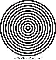 cercles, concentrique, fond