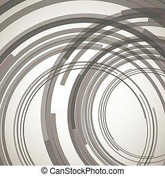 cercles, concentrique, résumé, élément