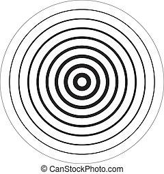 cercles, concentrique, sugestion, fond, 3d