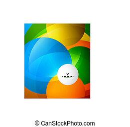 cercles, conception abstraite, coloré, gabarit