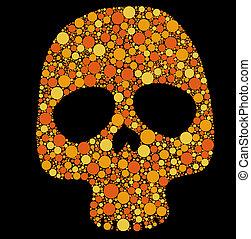 cercles, crâne