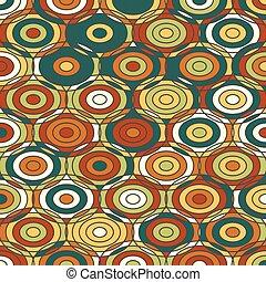 cercles, décoratif, coloré, texture, ethnique