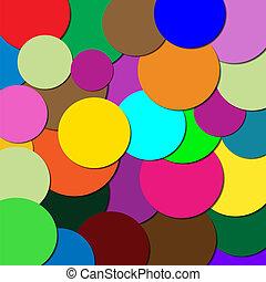 cercles, différent, couleurs