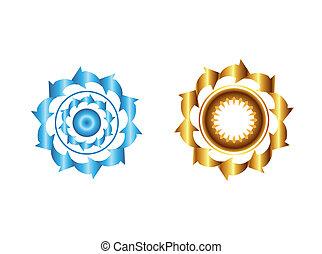 cercles, différent, ensemble, flèche