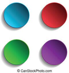 cercles, ensemble, coloré