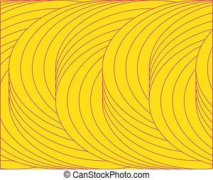 cercles, entonnoir, résumé, jaune, clair, fond, géométrique