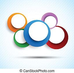 cercles, fond, coloré