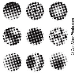cercles, halftone