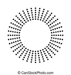 cercles, halftone, point, modèle