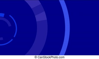 cercles, interface, rotation, informatique