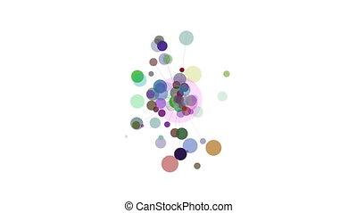 cercles, irradier, résumé, mouvement, conception, element., rays.