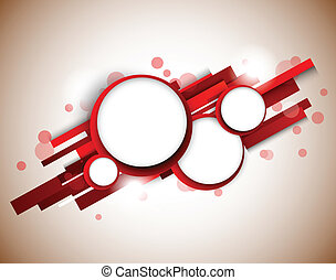 cercles, lignes, rouges