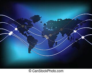 cercles, mondiale, fond, carte