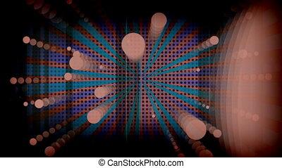 cercles, multicolore, faire boucle, noir, retro, fond