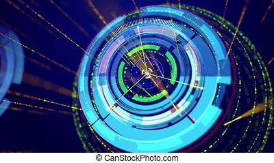 "cercles, "", oppositely, en mouvement, vert, ""blue"