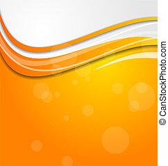cercles, orange, résumé, clair, fond