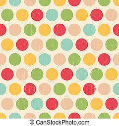 cercles, points, grunge, seamless, polka