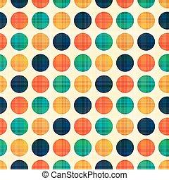 cercles, points, polka, seamless, modèle