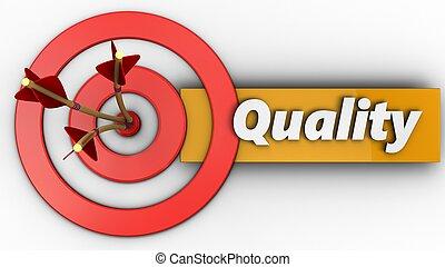 cercles, qualité, cible, 3d