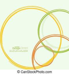 cercles, résumé, arrière-plan coloré