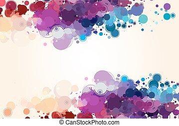 cercles, résumé, coloré