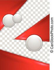 cercles, résumé, gris, aviateur, conception, rouges