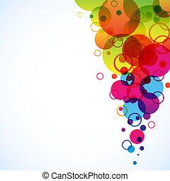 cercles, résumé, spectre, space., fond, copie