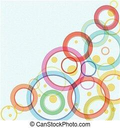 cercles, résumé, vecteur, fond