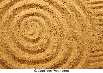 cercles, sable