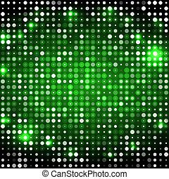 cercles, sombre, résumé, arrière-plan vert