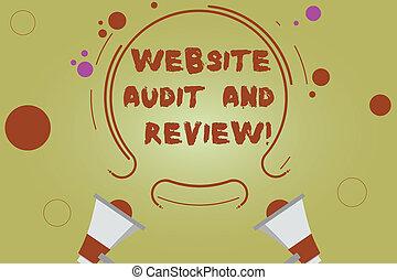 cercles, toile, concept, mot, réaction, affaires colorent, texte, contour, deux, review., site web, arrière-plan., audit, petit, porte voix, révision, écriture, évaluation, pages, circulaire
