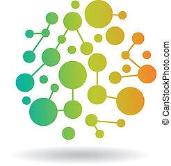 cercles, vecteur, réseau, coloré