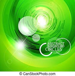 cercles, verre, techno
