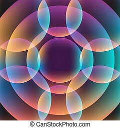 cercles, vibrant, résumé, fond