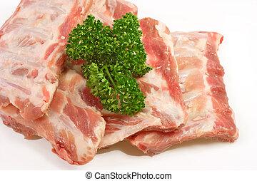 cerdo, costillas