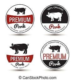 cerdo, etiqueta
