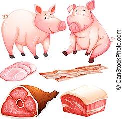 cerdo, productos