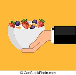 cereal bowl menu icon vector illustration design