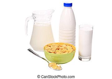 Cereal breakfast for kids.