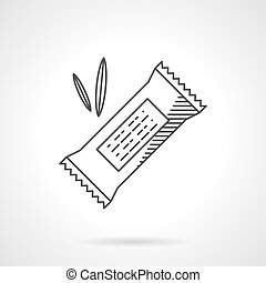 Cereal candy flat line vector icon