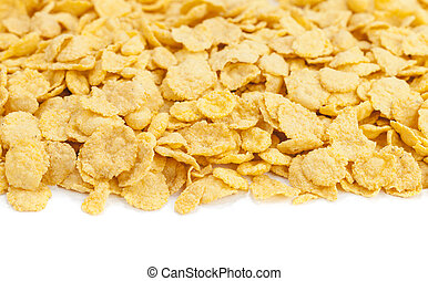 cereal cornflakes on white background