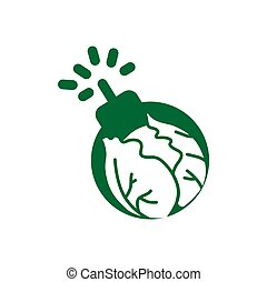 cereal farm boom for food agriculture logo and icon