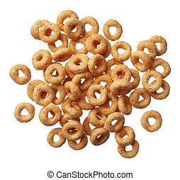 cereal, fundo, isolado, branca