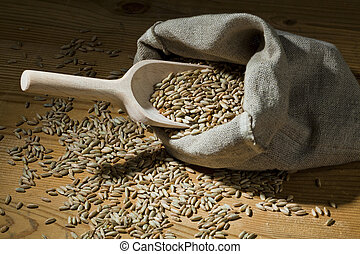 cereal grains of rye. yields for crops in agriculture