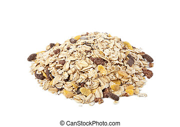 cereal heap isolated