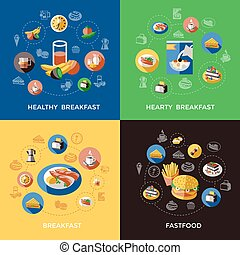Cereal Icon Set